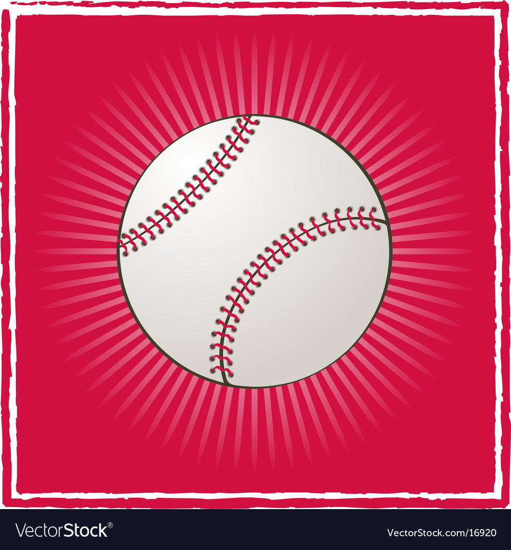 Ball baseball vector