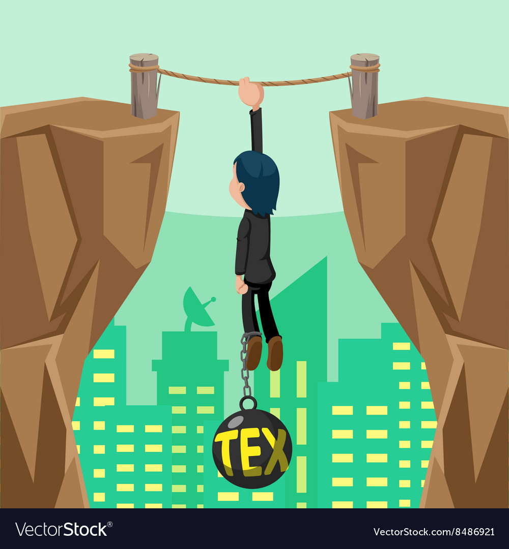 Worker danger tax cliff pendulum vector