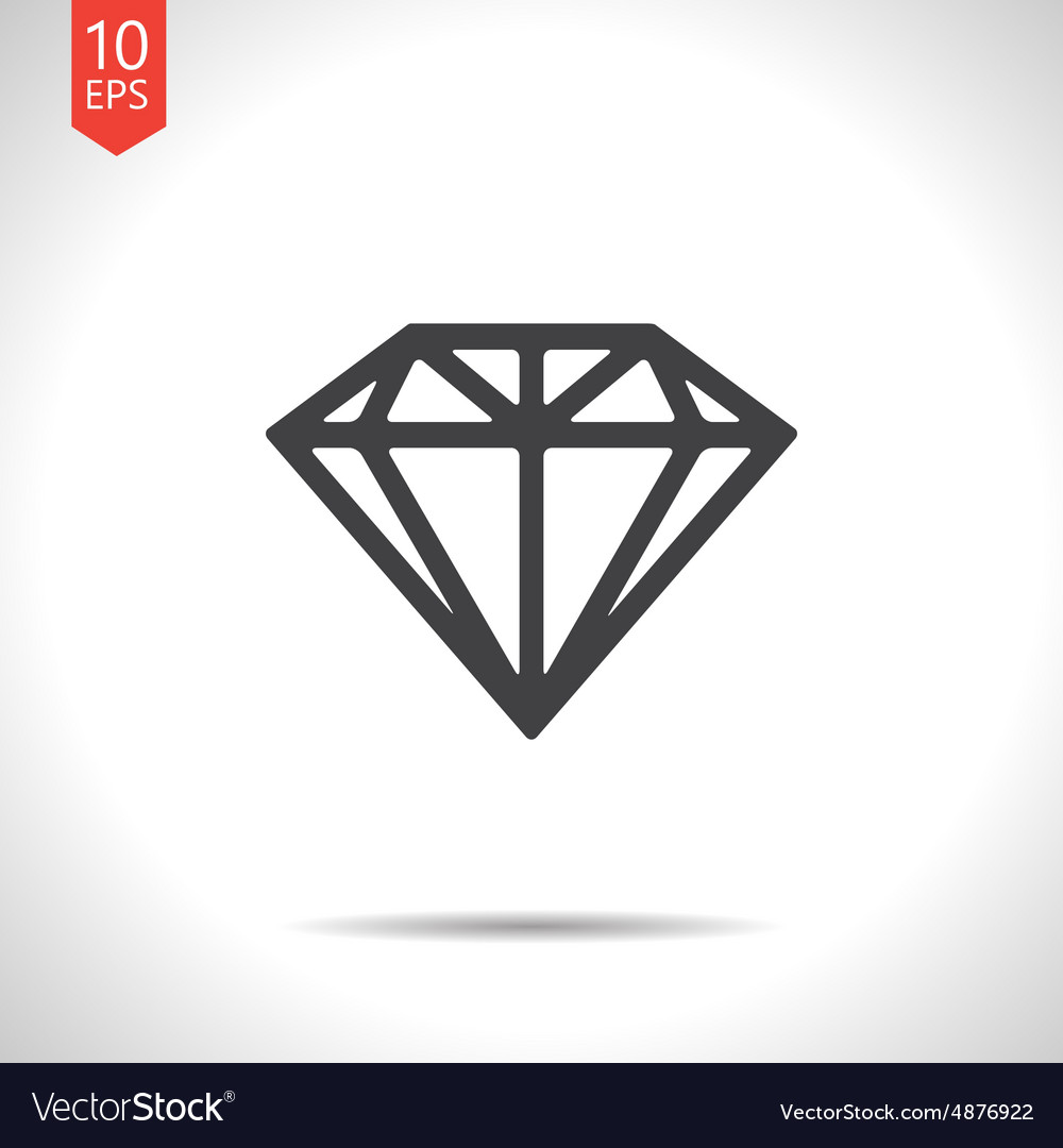 Diamond icon eps10 vector