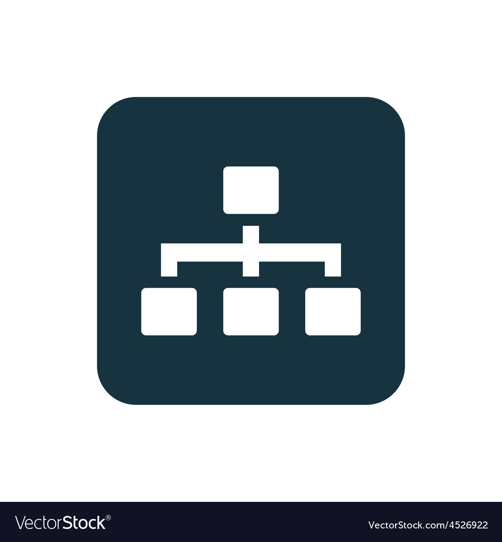 Hierarchy icon rounded squares button vector