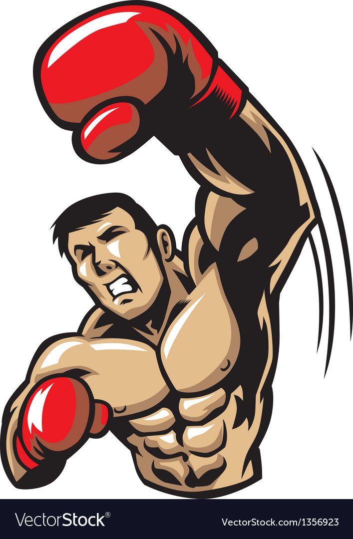 Boxing man punch vector