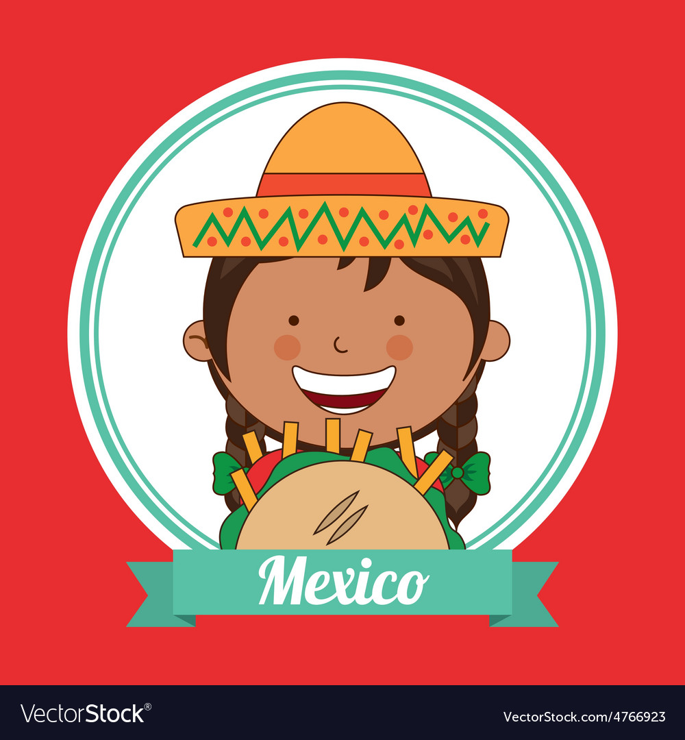 Mexican kid vector