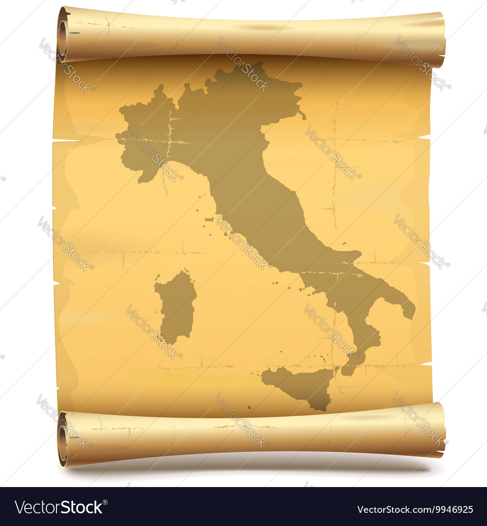 Paper scroll with italy vector