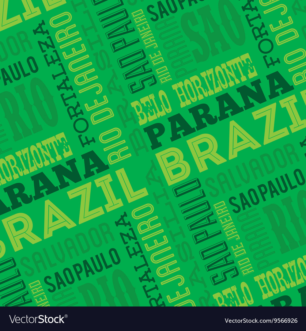 Brazil poster isolated icon design vector