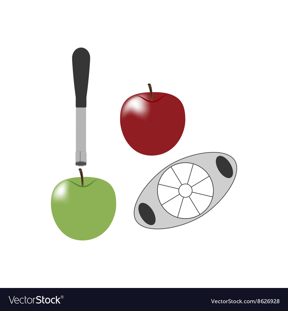 Apple and knife vector