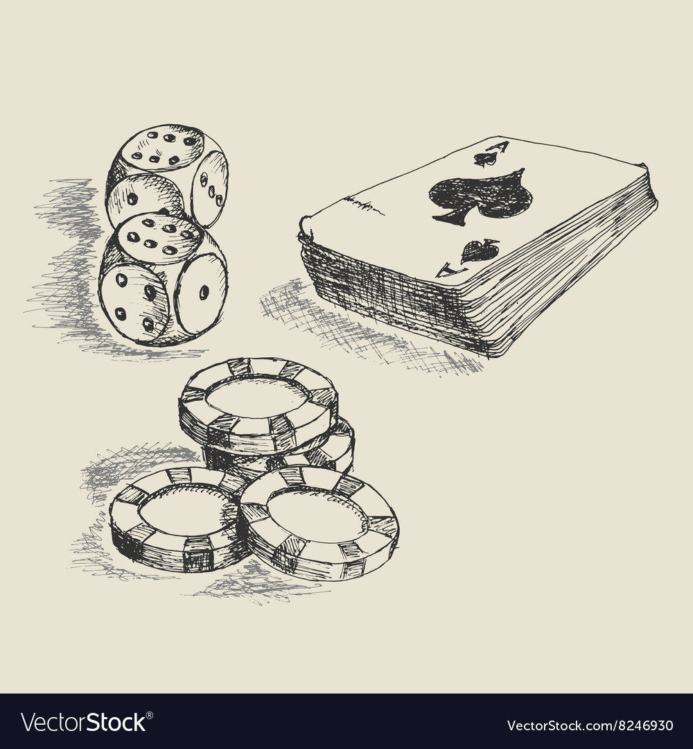 Gambling sketch vector
