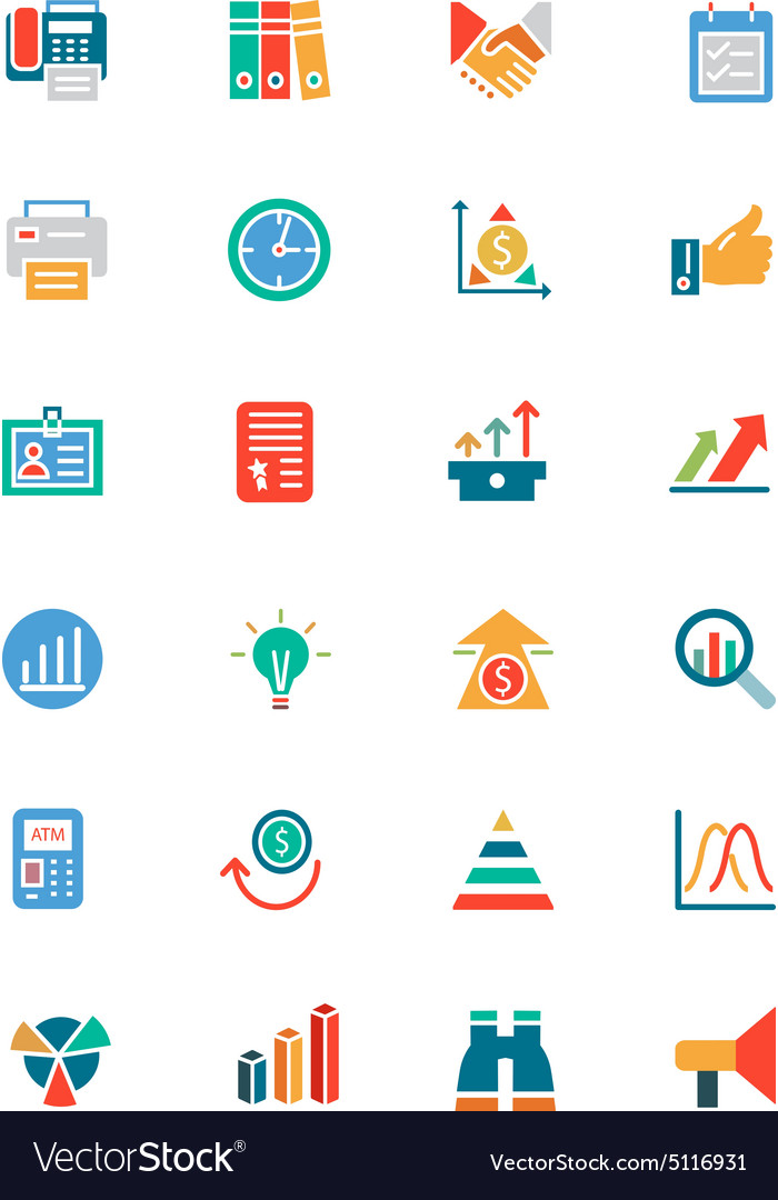 Banking and finance colored icons 4 vector