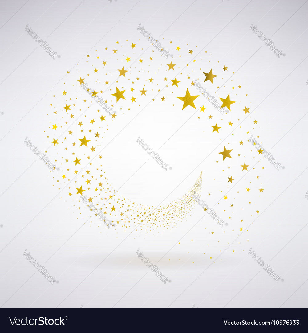 Circulation of gold stars vector