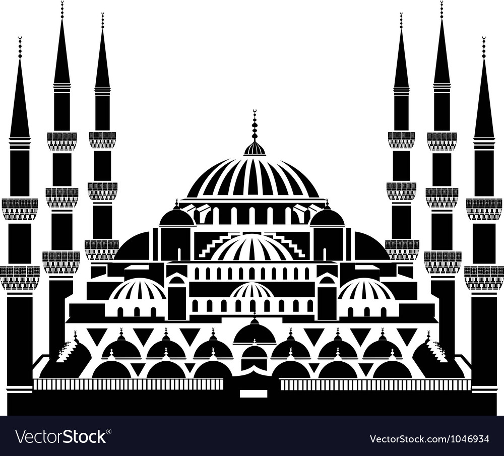 Blue mosque istanbul vector