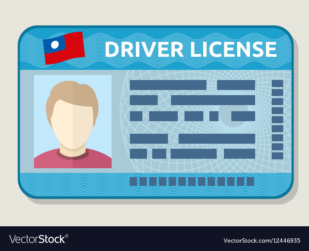 Car driving licence identification card vector