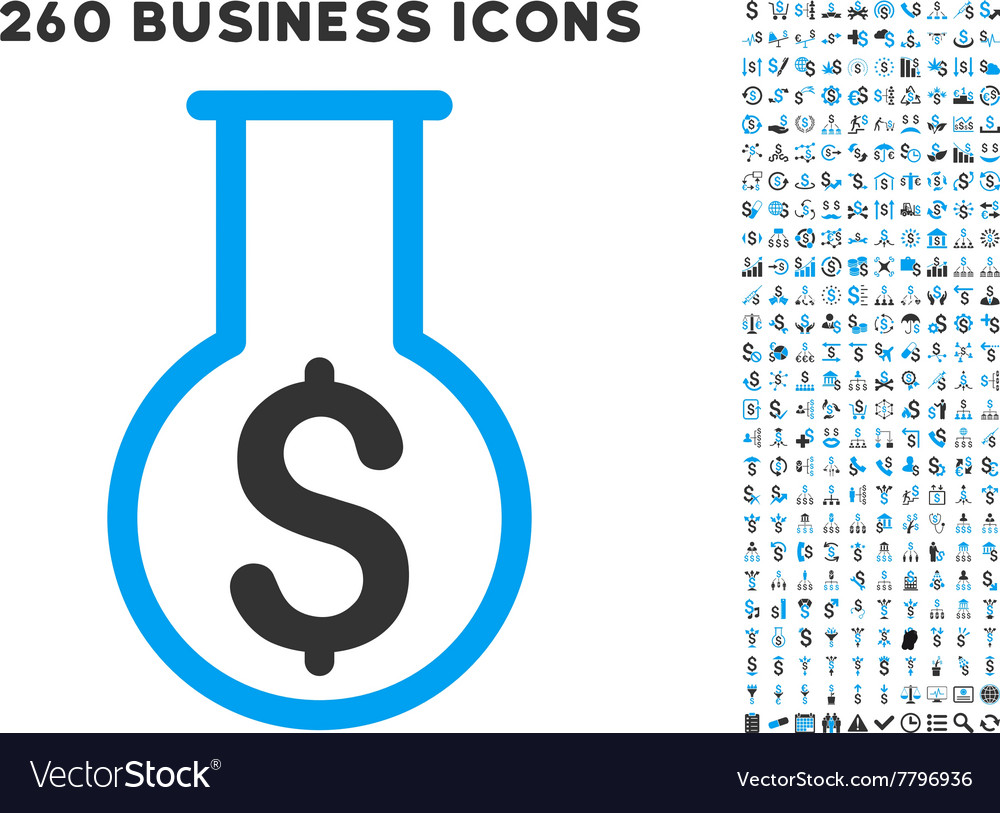 Financial alchemy icon with flat set vector
