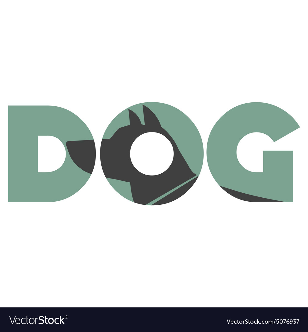 Dog sign vector