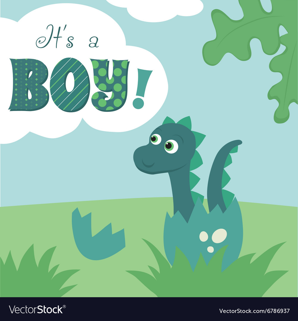 It is a boy card vector