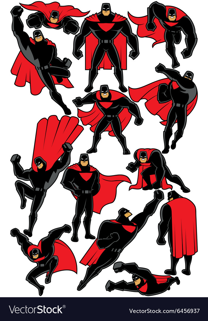 Superhero set 2 vector