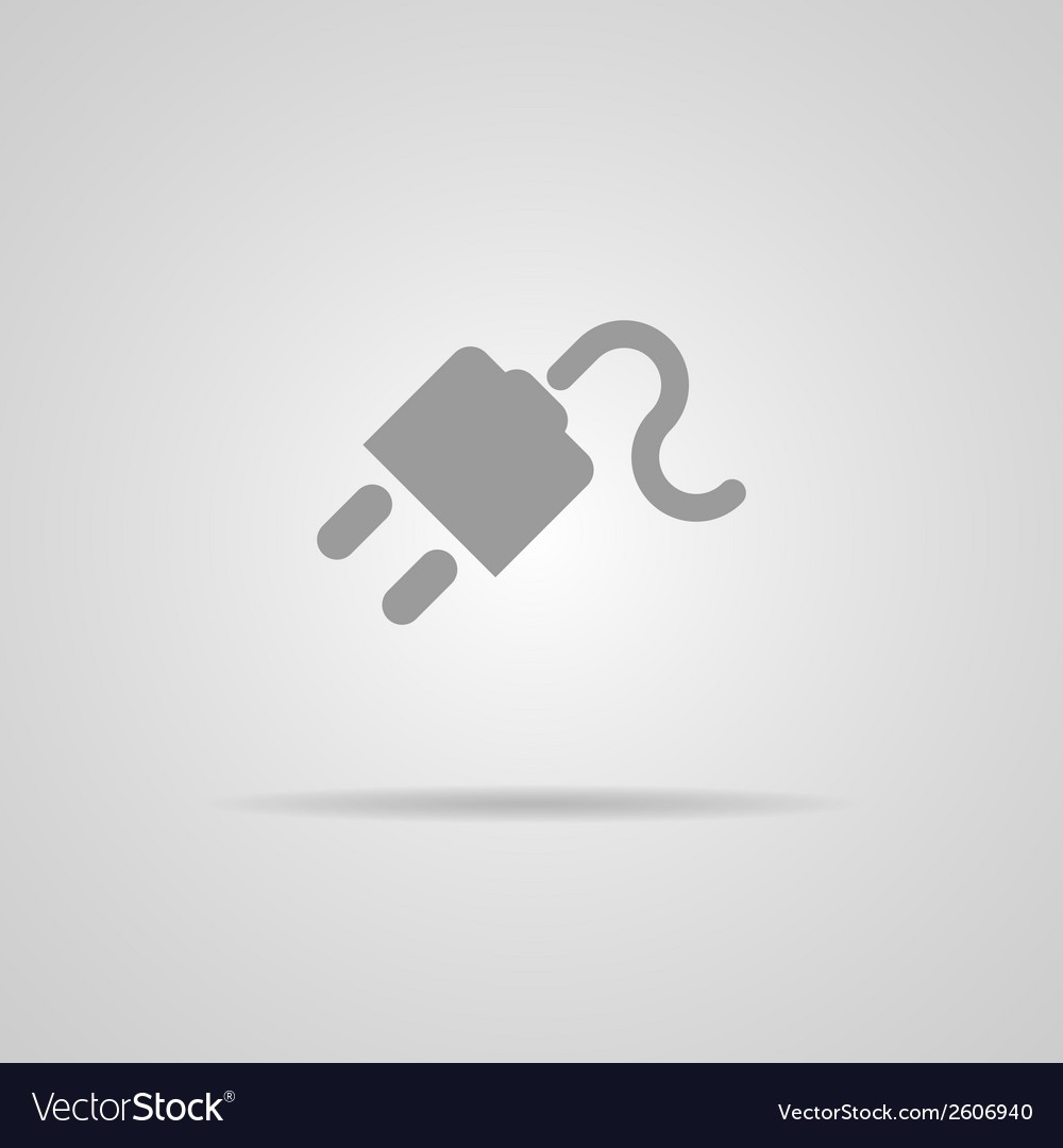 Electric plug  icon isolated vector