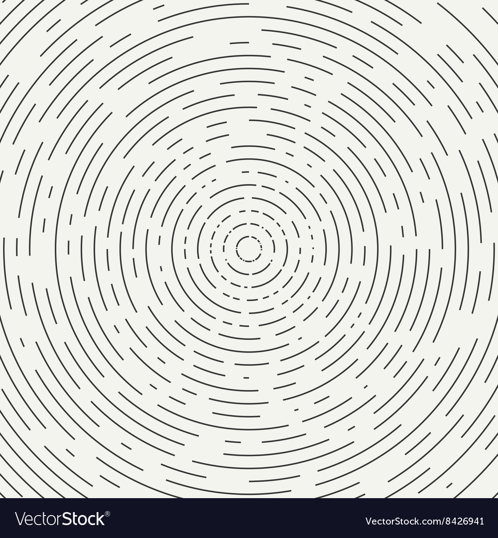 Abstract segmented geometric circle shape radial vector