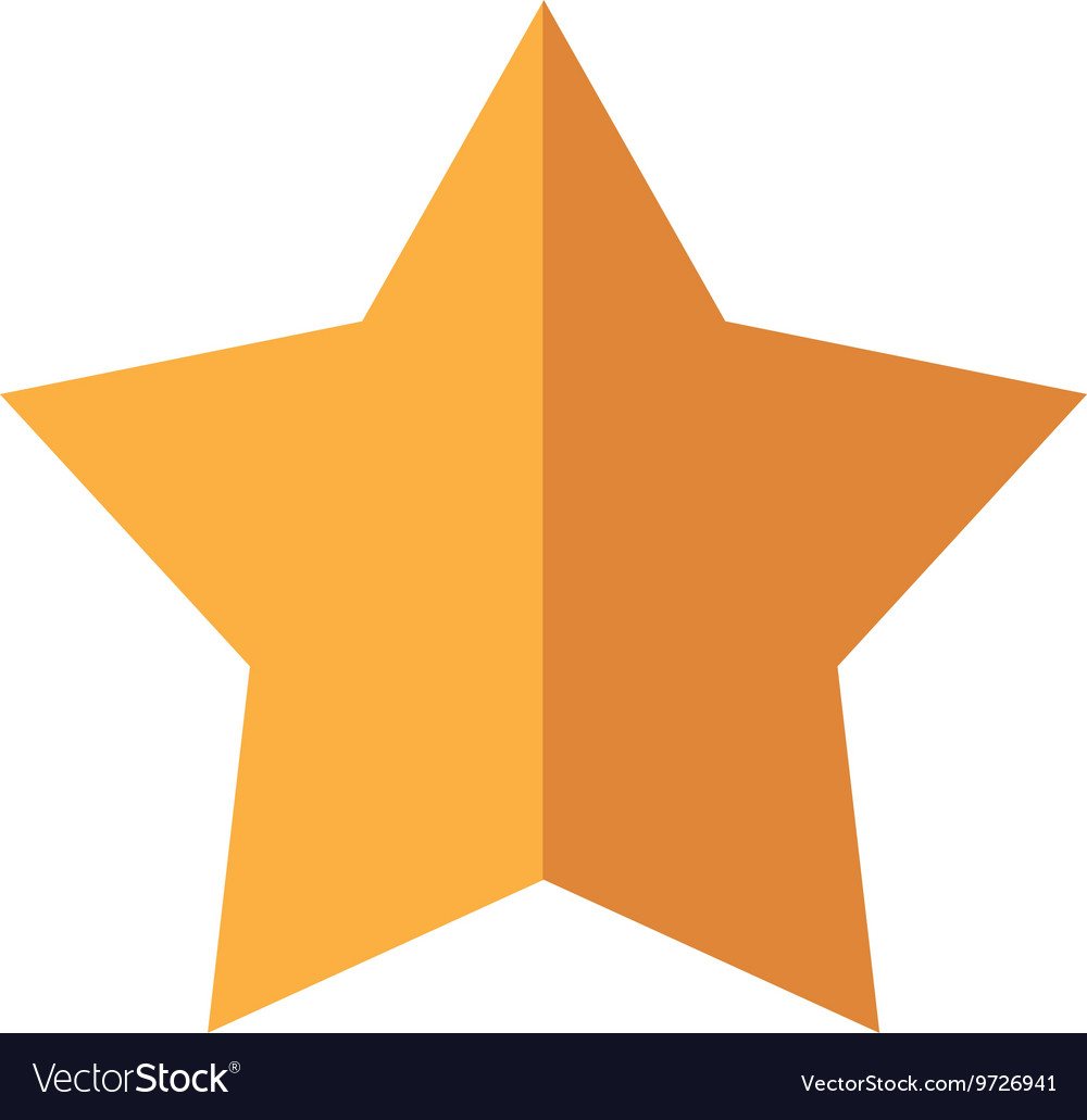 Gold star icon insignia design graphic vector