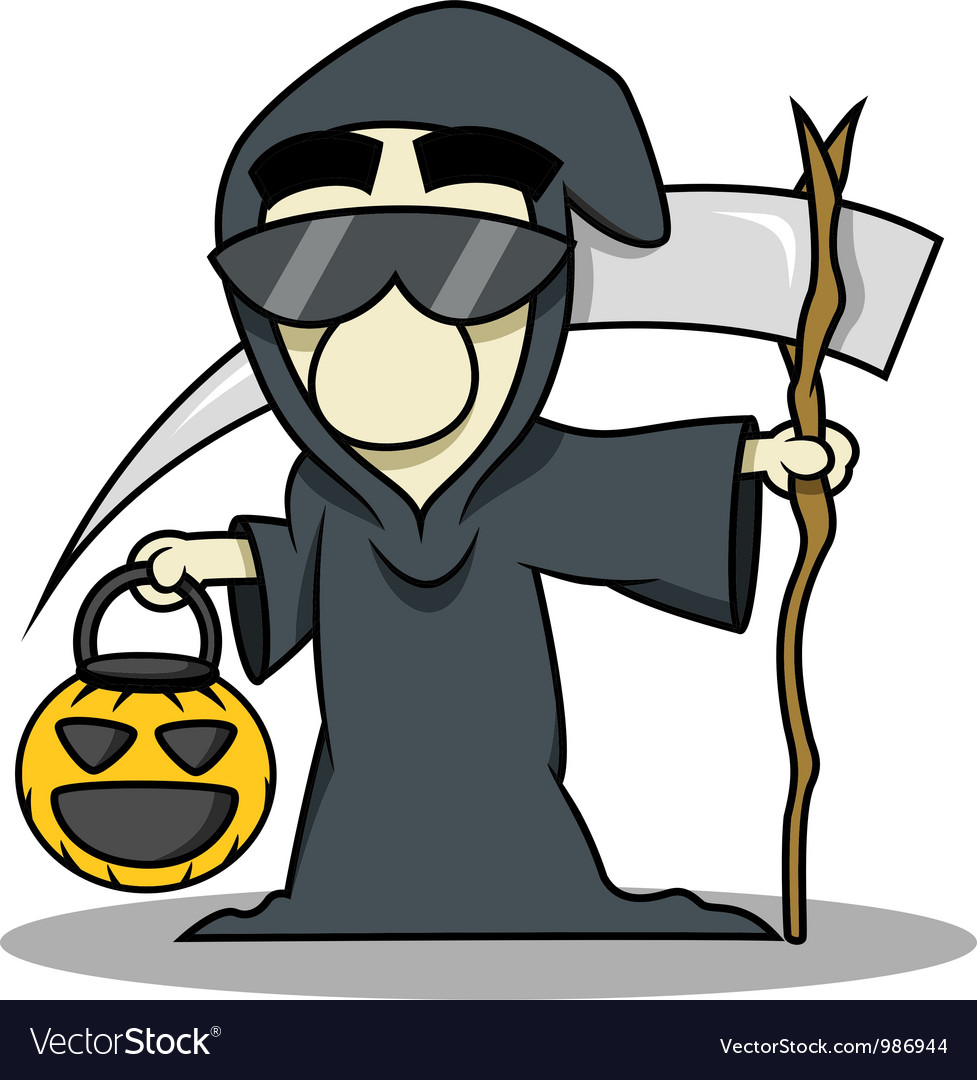 Death reaper halloween costume vector