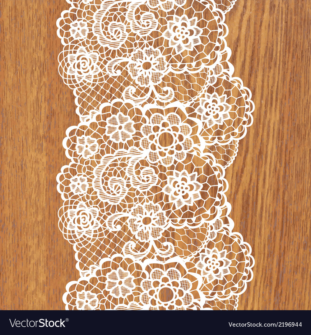 White lace on tree texture vector