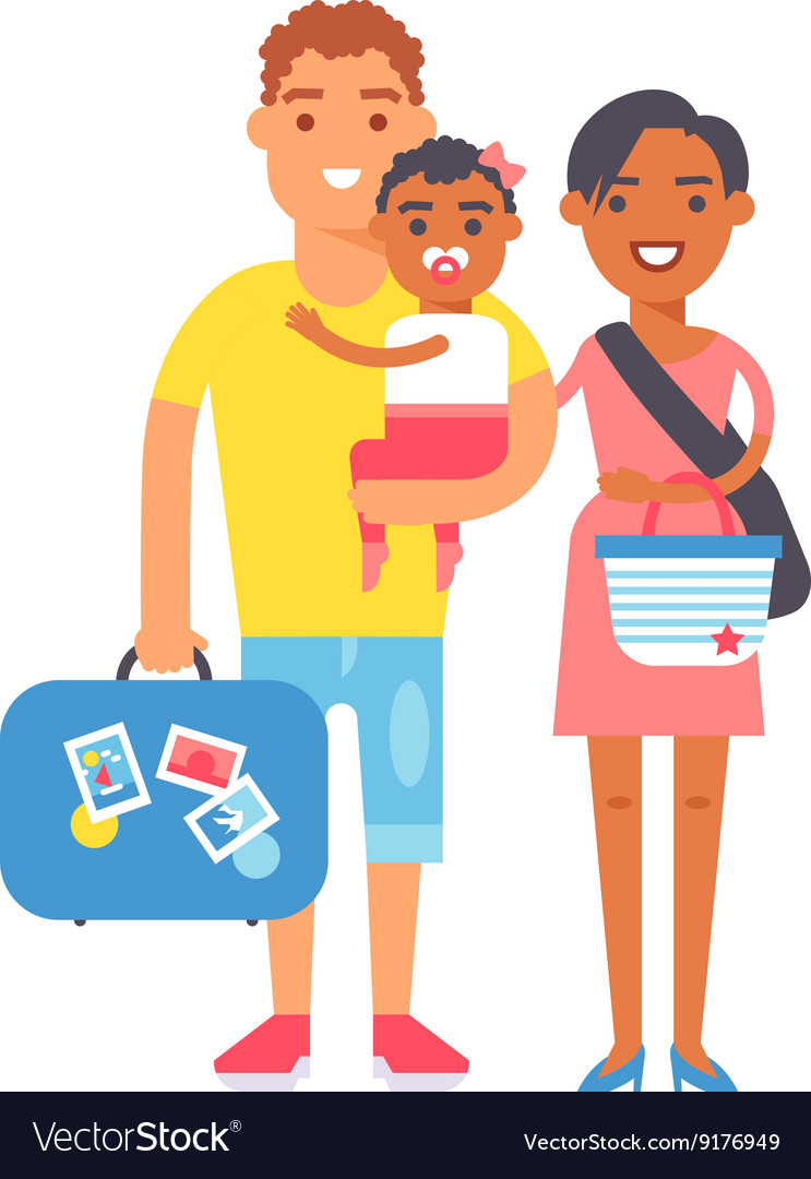 Vacation family vector