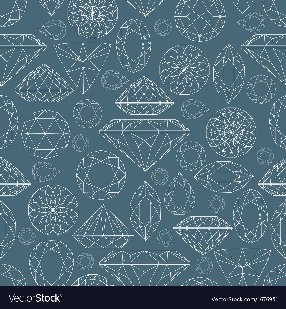 Seamless diamond pattern 2 vector