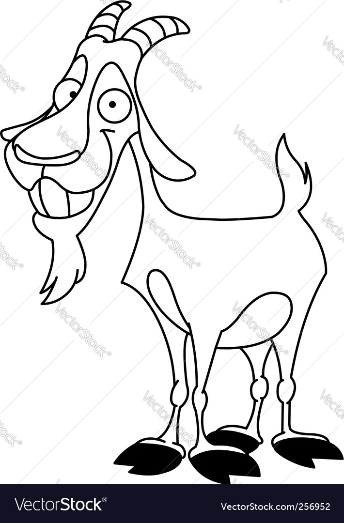 Billy goat vector