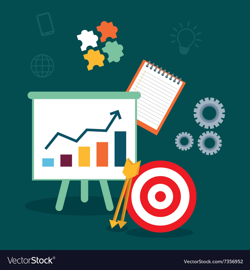 Business management projects vector