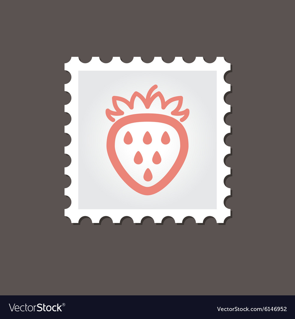 Strawberry stamp outline vector