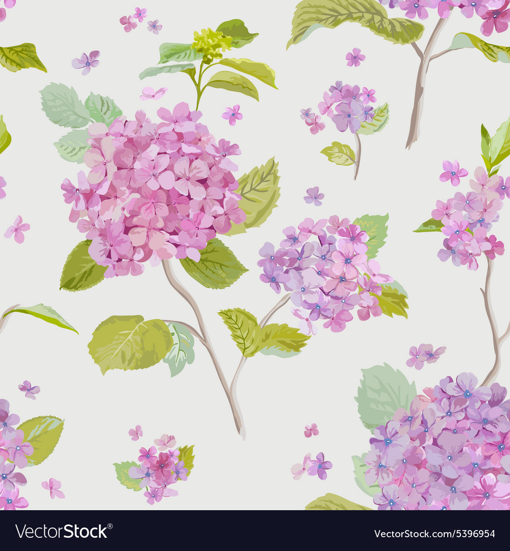 Vintage floral lilac background  seamless pattern vector