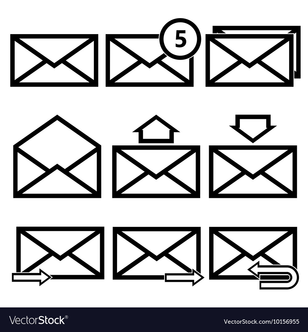 Email symbol letter icon  vector