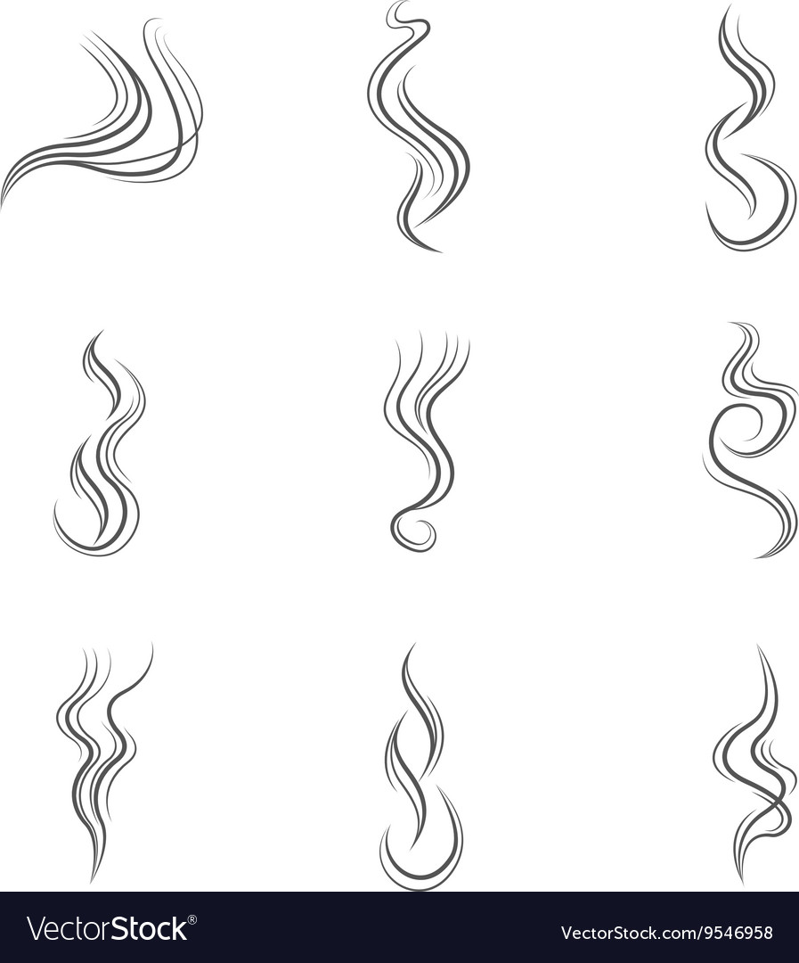 Smoke lines set vector