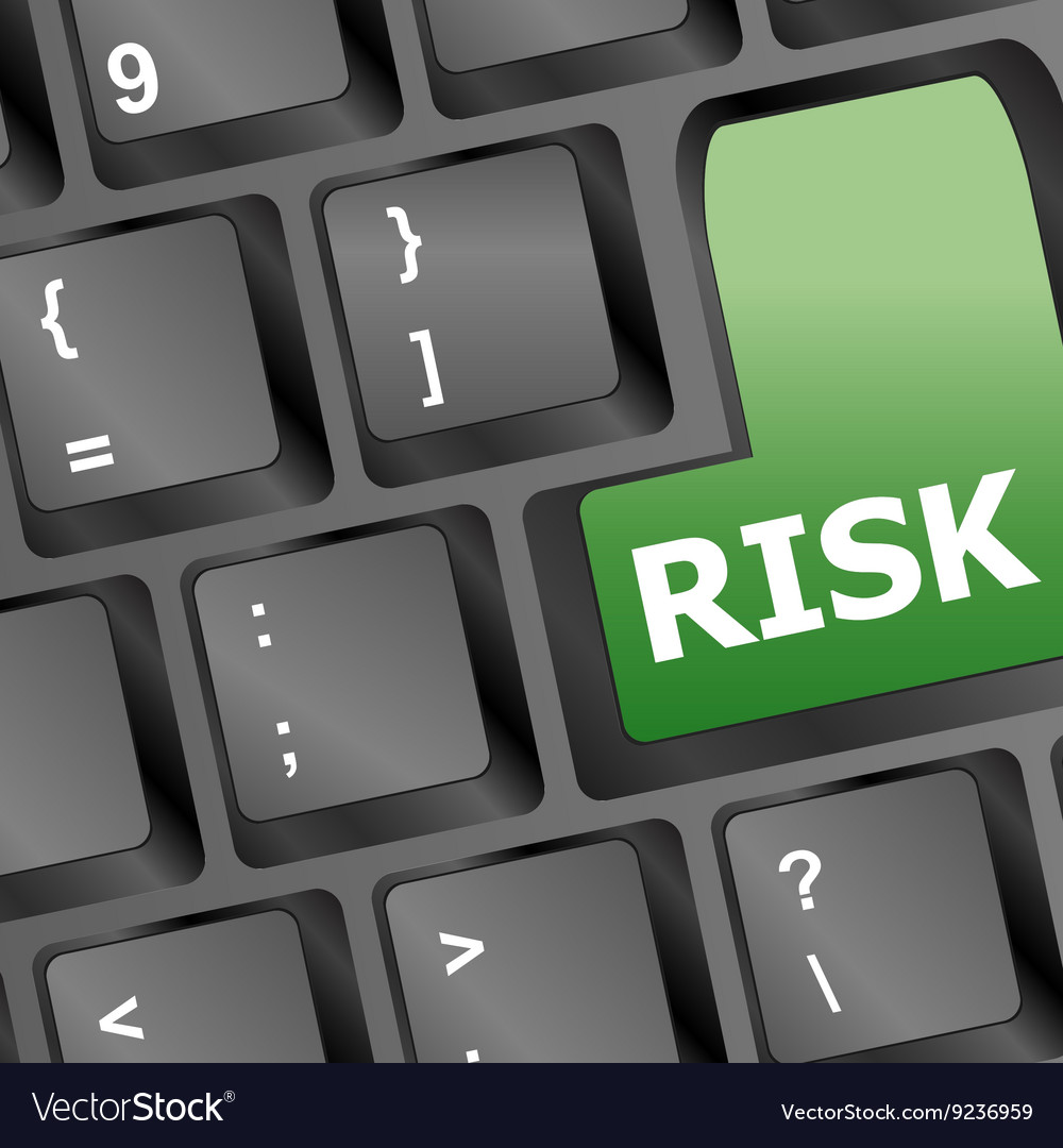 Risk management key showing business insurance vector
