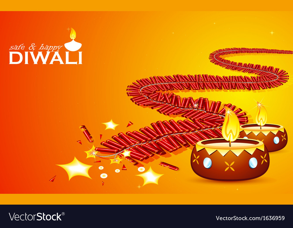 Safe and happy diwali vector