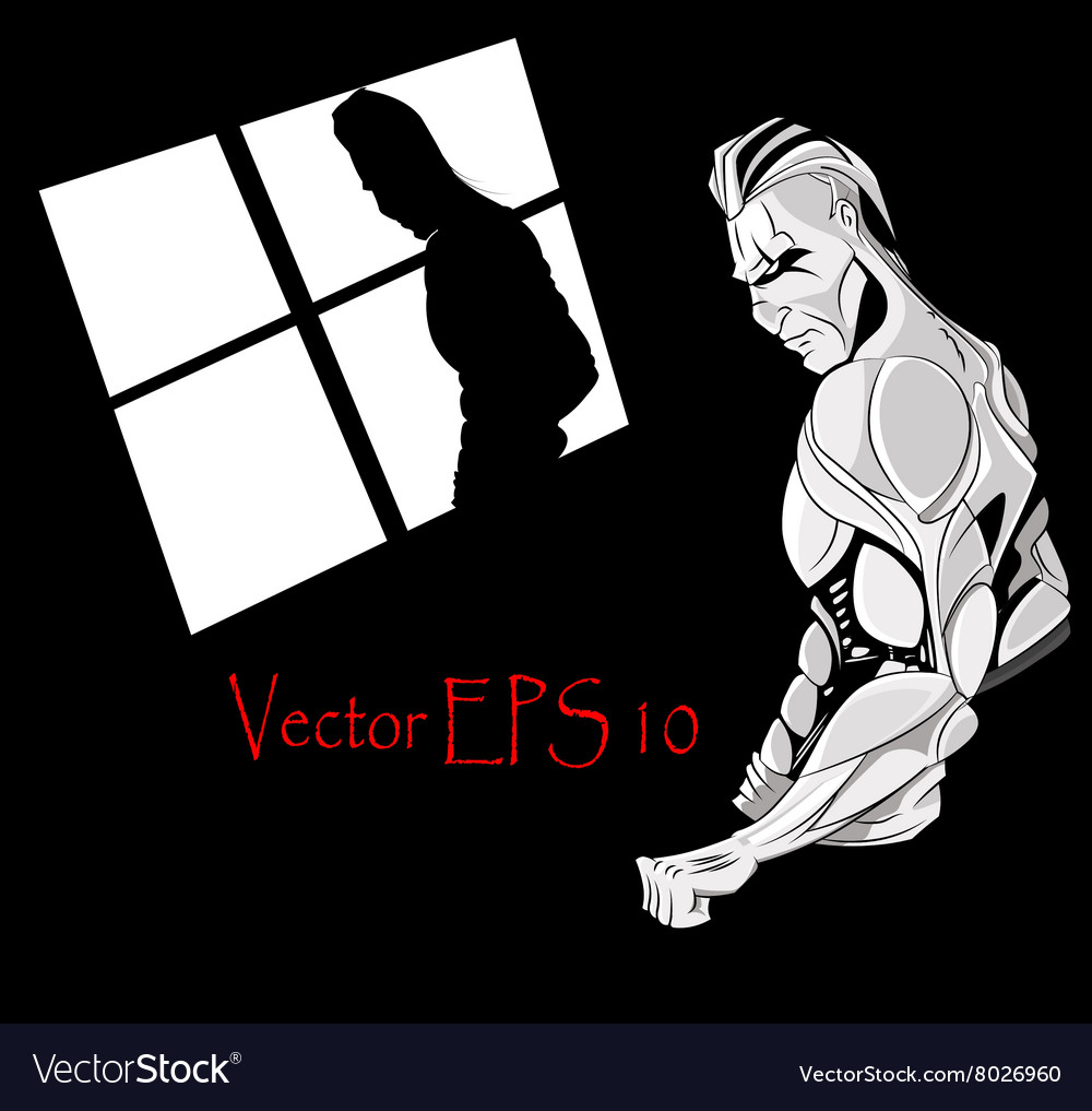 Man with muscles for gym vector