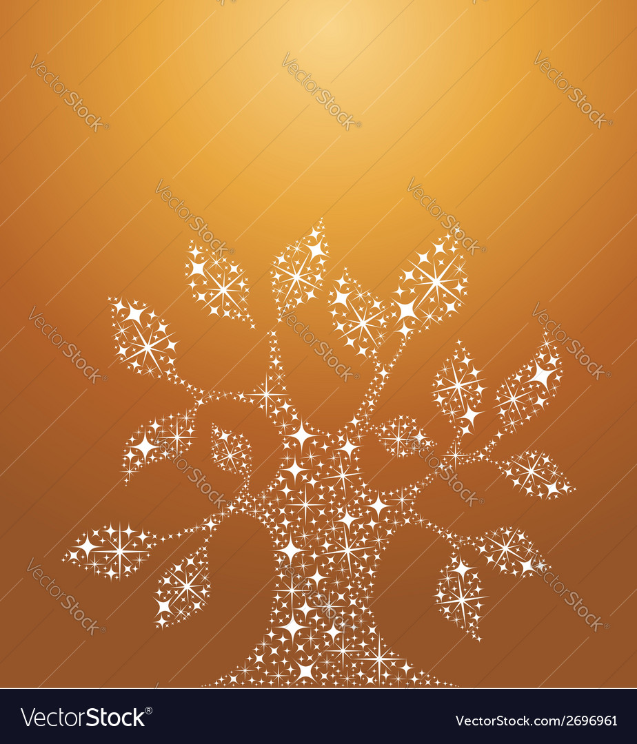 Tree of life stars vector
