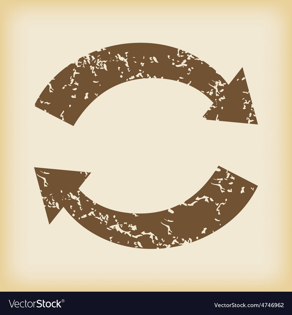 Grungy exchange icon vector
