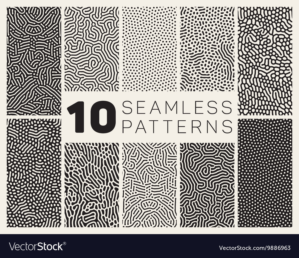 Seamless organic rounded jumble maze lines vector