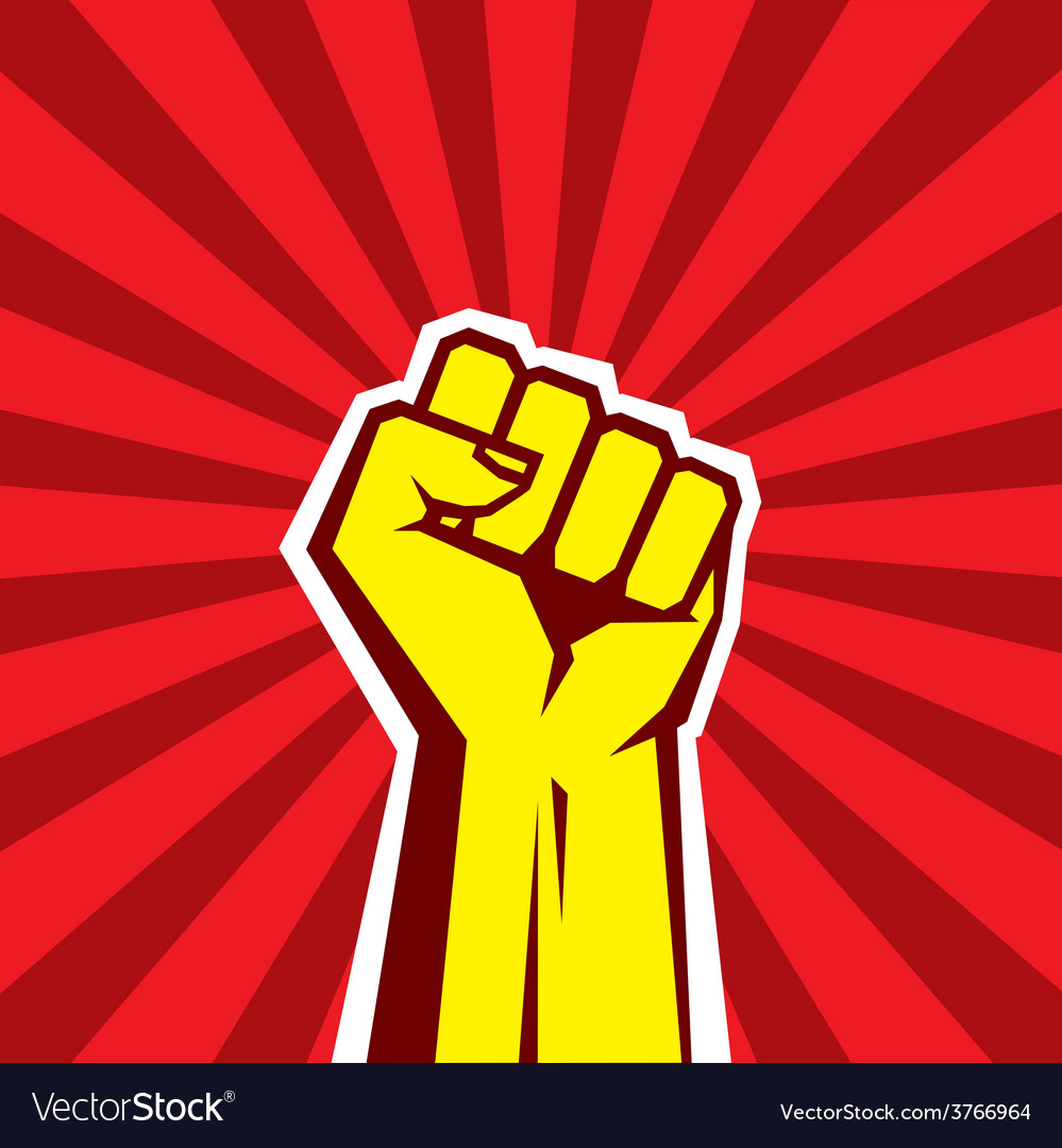 Hand up proletarian revolution  vector