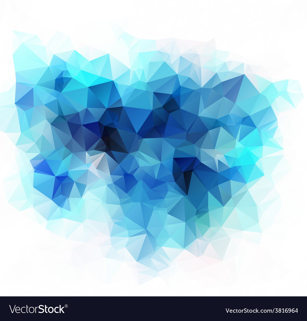 Polygonal mosaic background business design vector