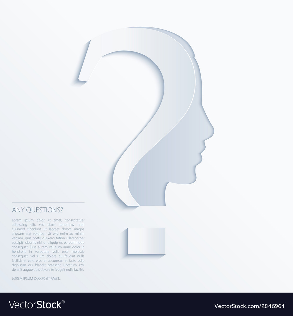 Question mark human head symbol vector