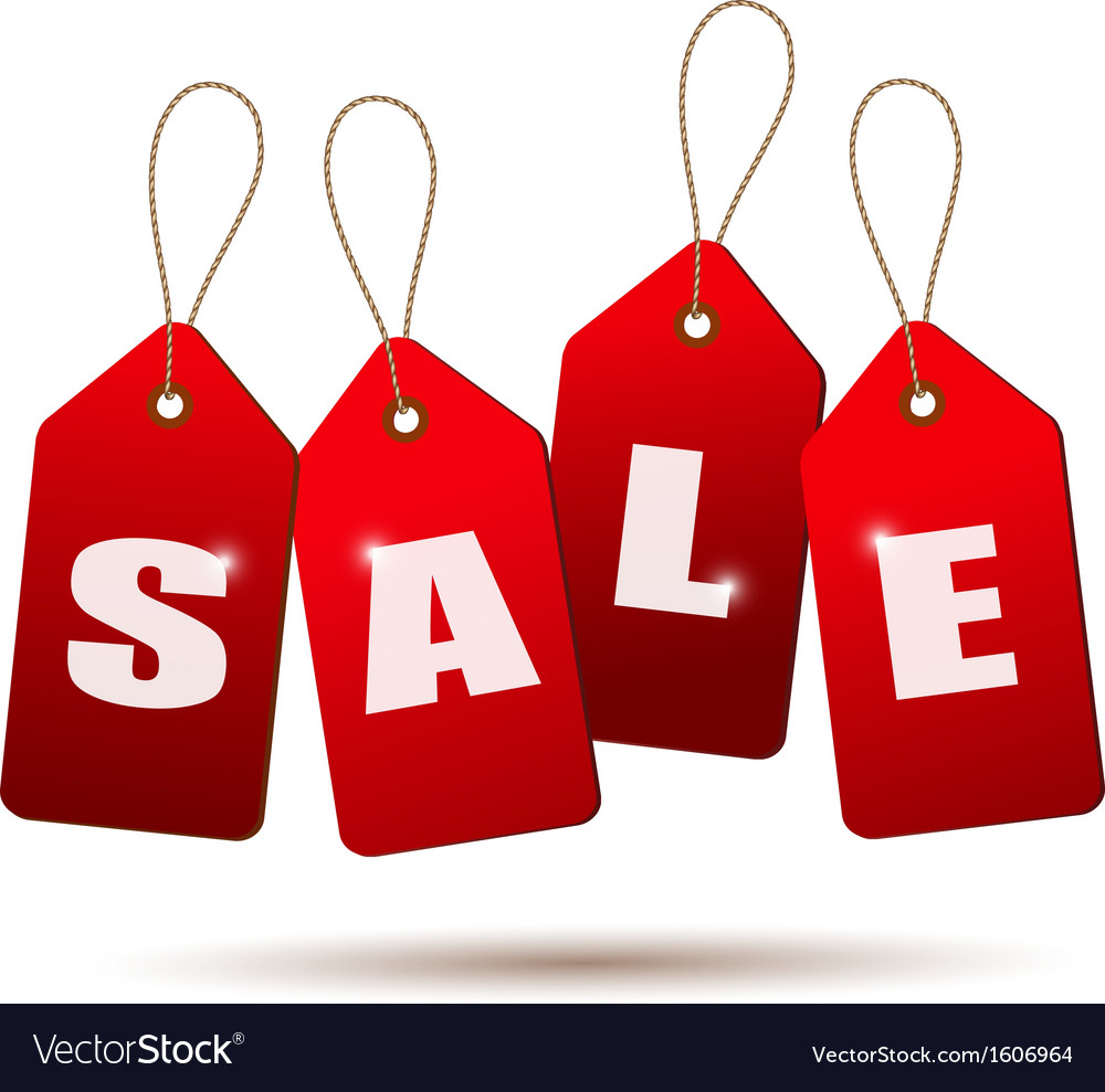 Sale tags concept of discount shopping vector