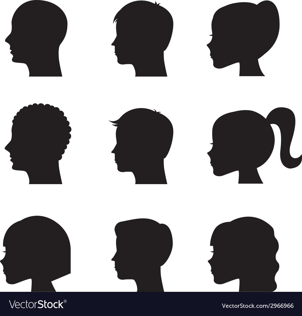 Profiles design vector
