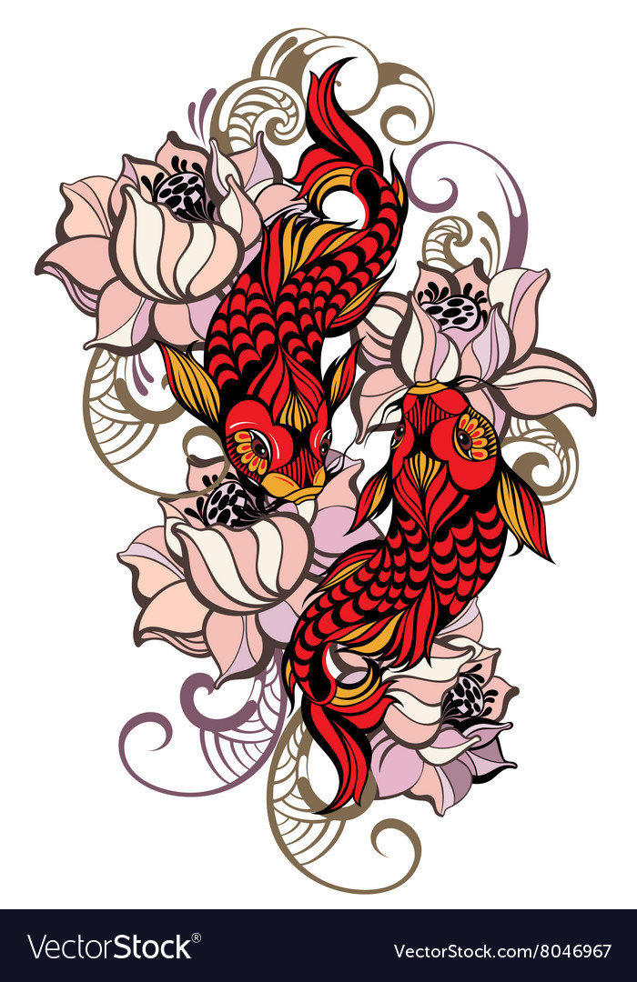 Japanese carps vector