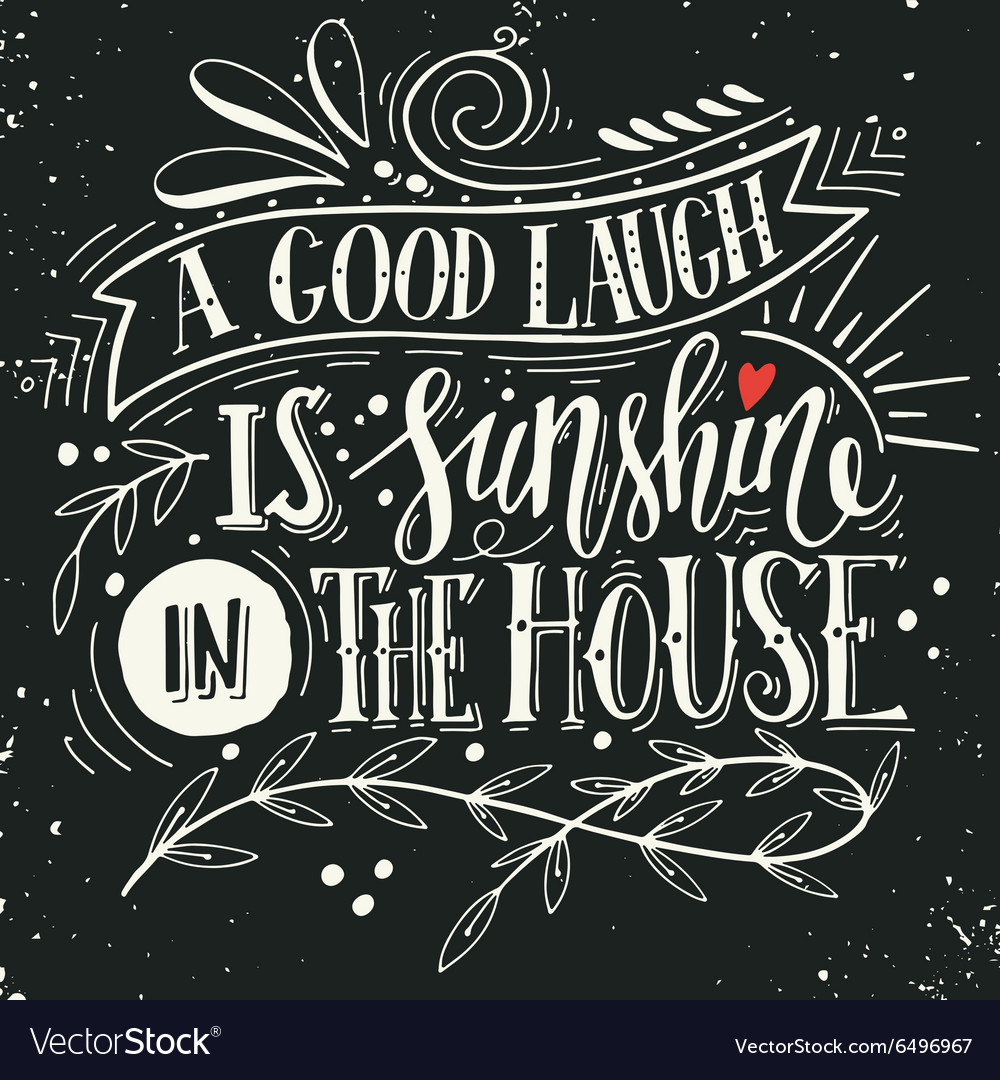 Quote hand drawn vintage print with hand lettering vector