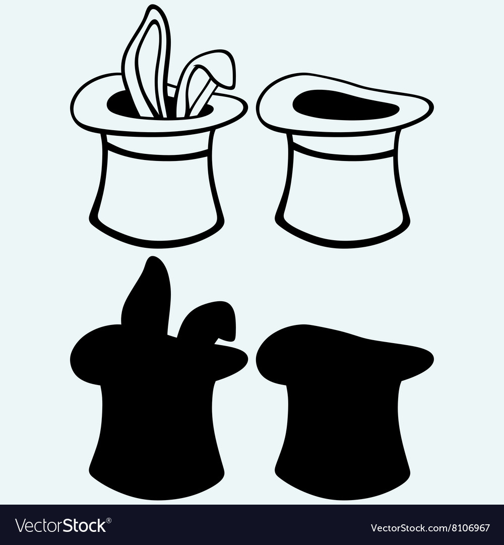 Rabbit in a magician hat vector