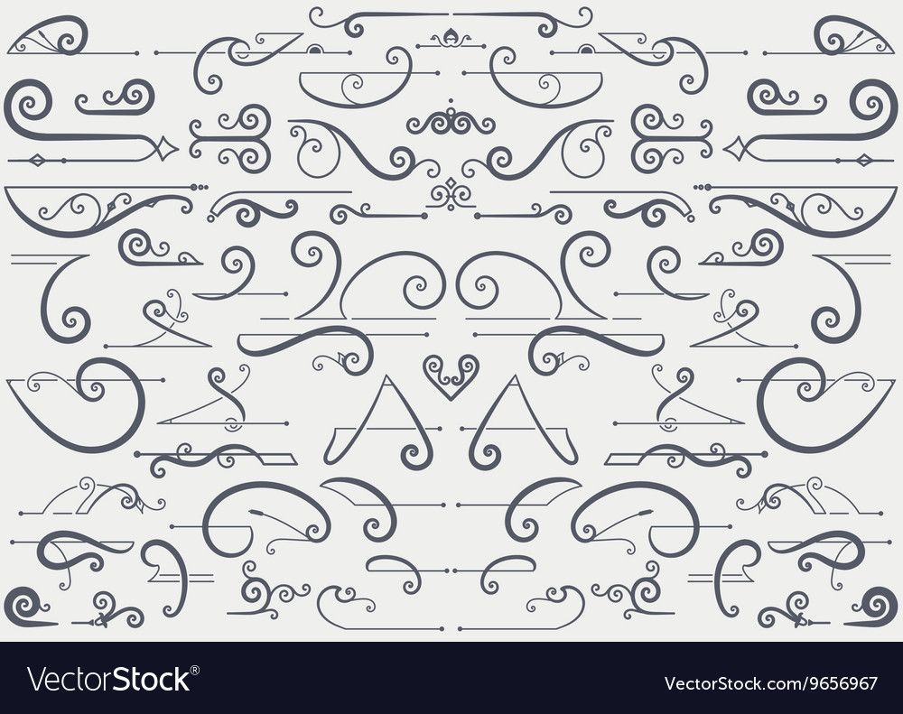 Vintage accents and ornaments vector