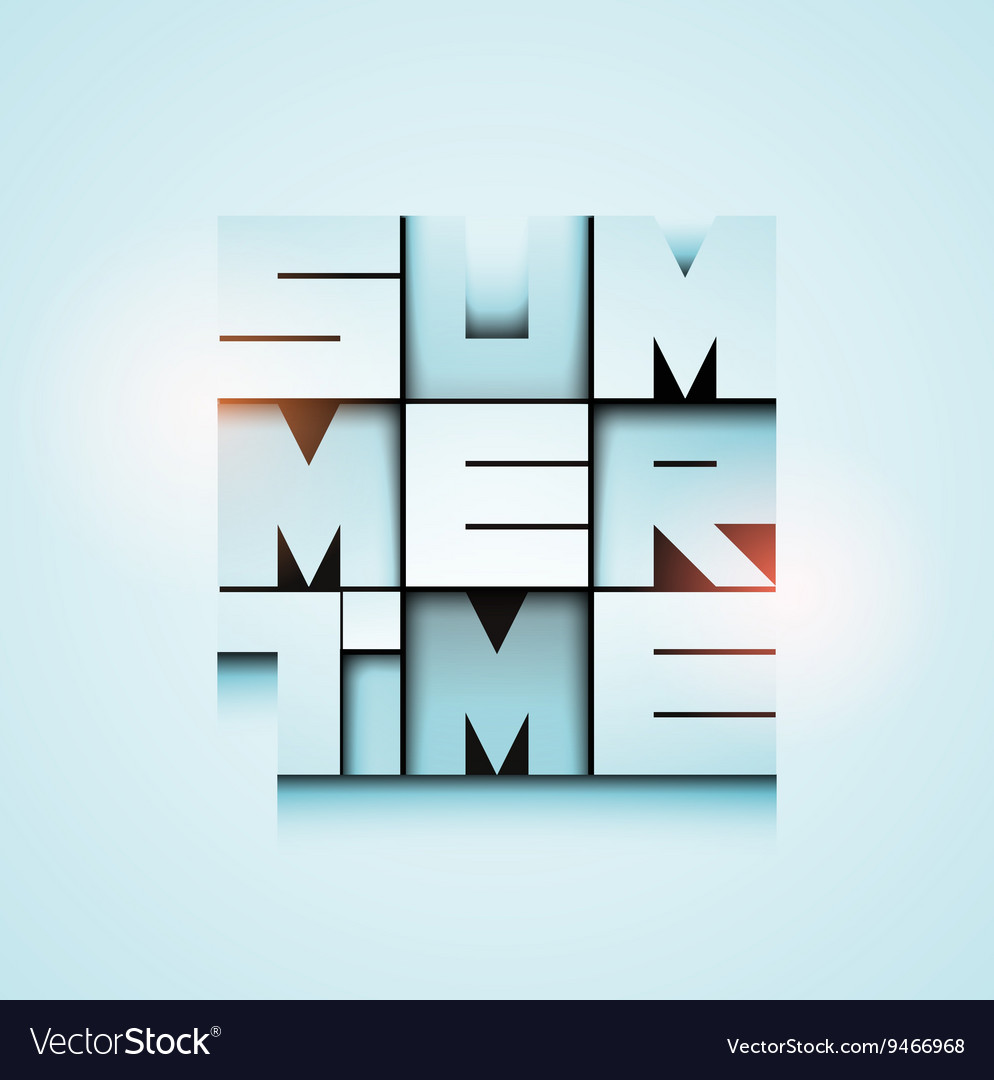 Summer time poster design eps 10 vector