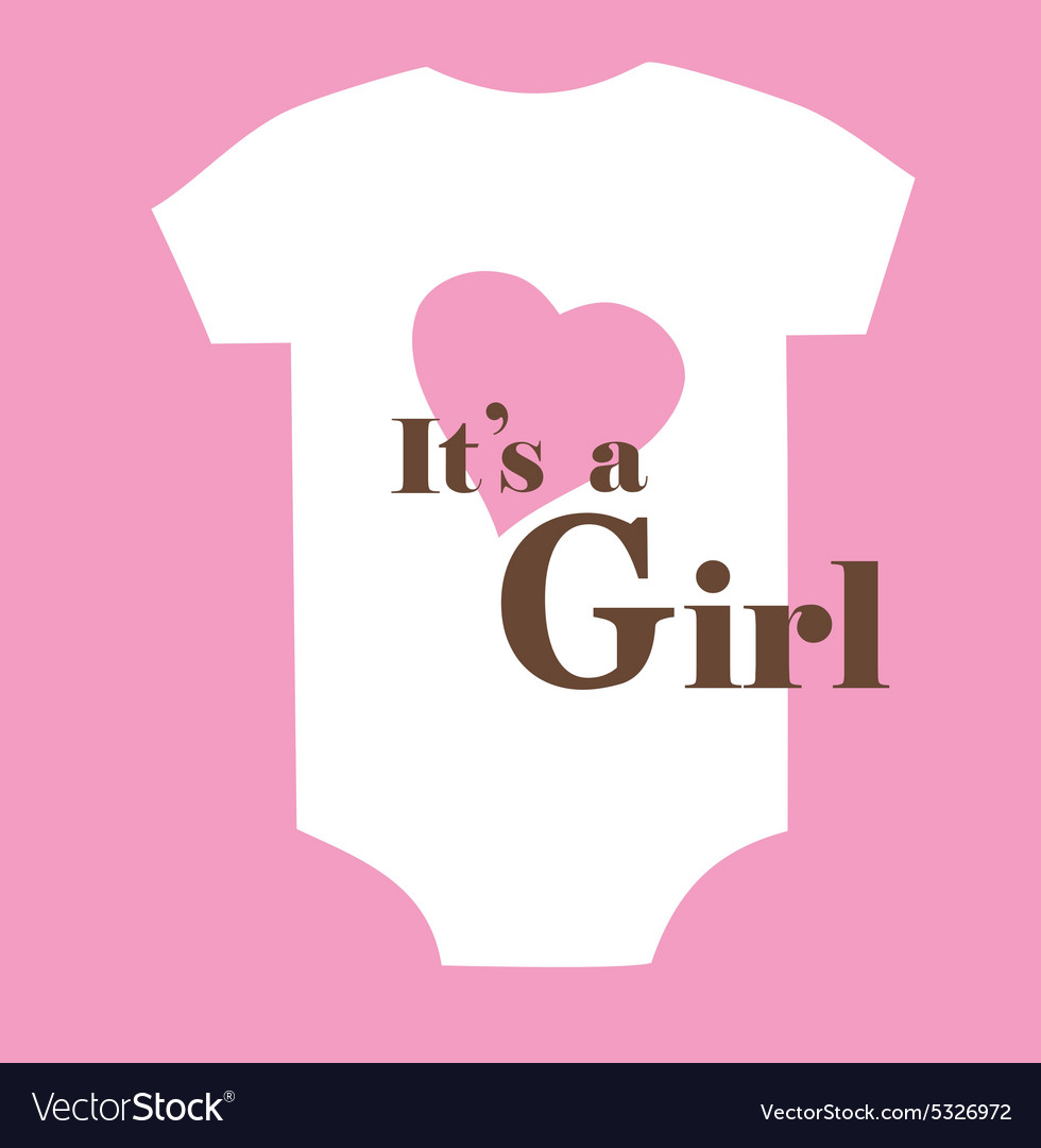 Baby clothes girl vector
