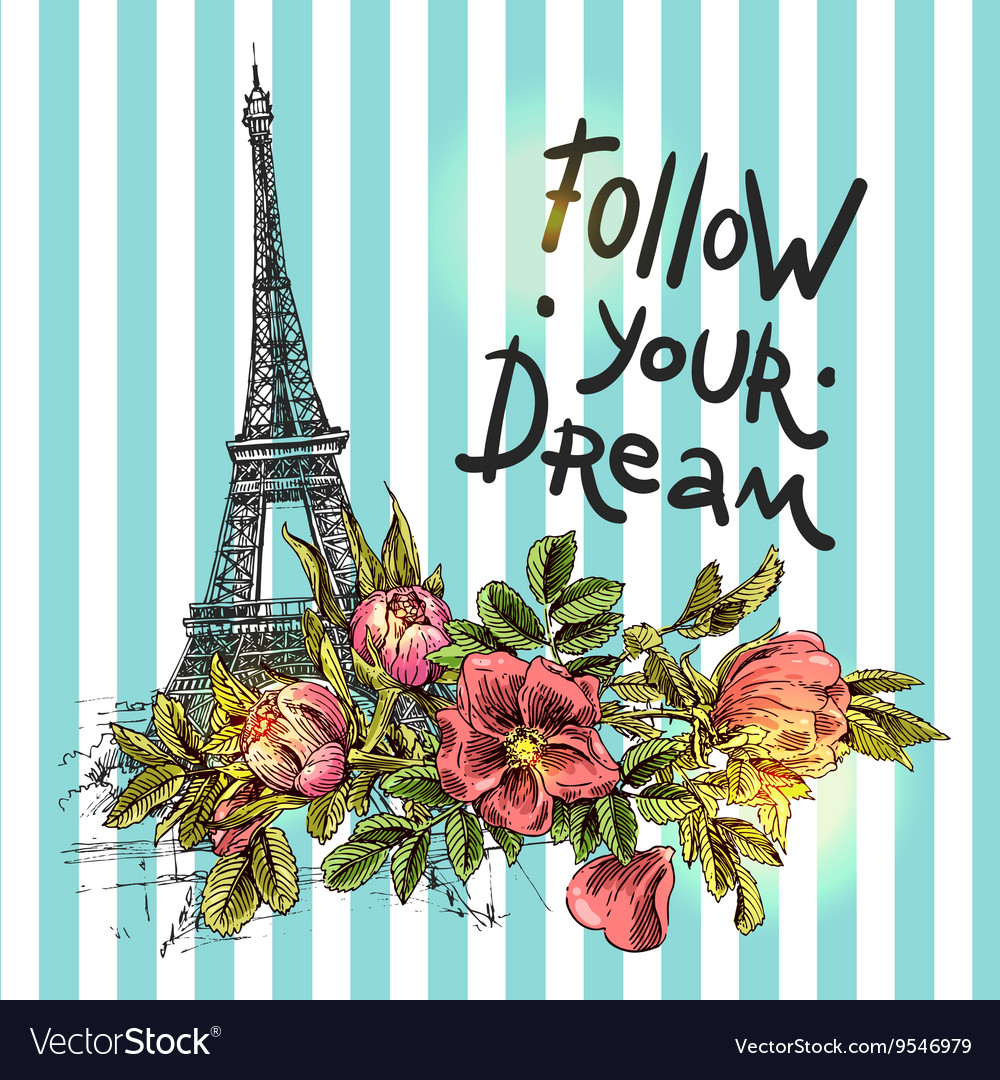 Poster follow your dream vector