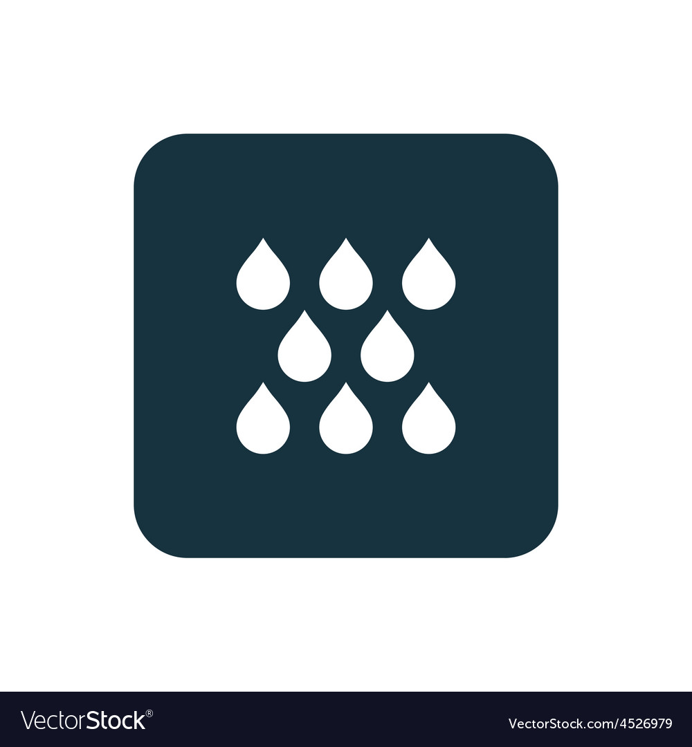 Rain icon rounded squares button vector